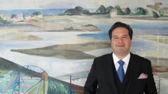 Robert Treviño au siège de l'Orchestre Symphonique d'Euskadi