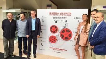 """José Luis Rebordinos, Óscar Castaño """"Garbitxu"""", Oriol Roch, Ainhoa Larrañaga, Xabier Ormazabal, Ignacio Casado"""