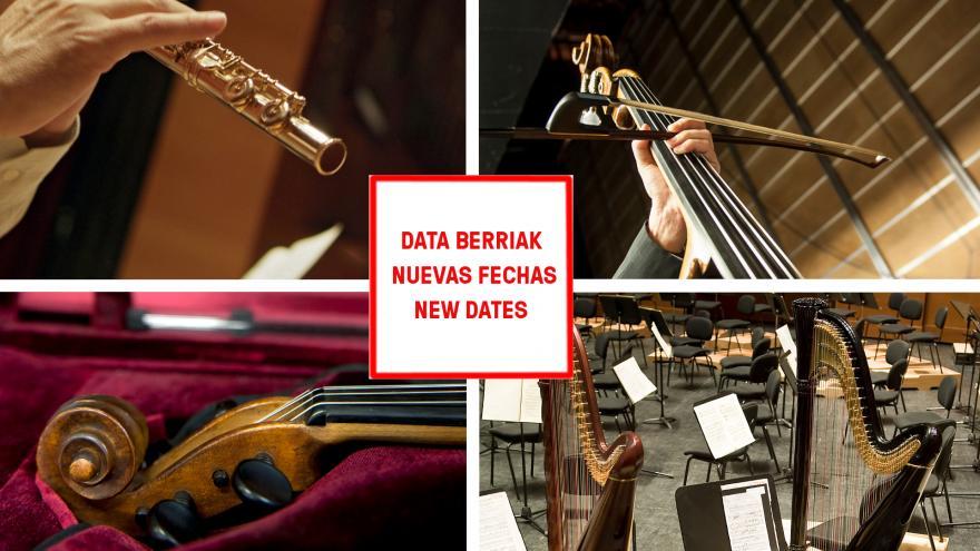 Euskadiko Orkestrak hainbat entzunaldiren datak aldatu ditu