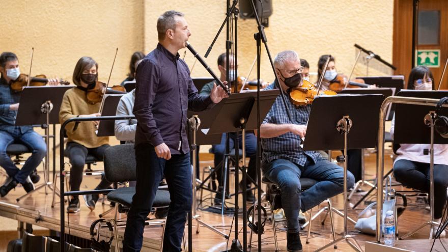Garikoitz Mendizabal avec le Basque National Orchestra (Photo: Juantxo Egaña)